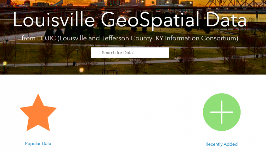 New LOJIC GeoSpatial Data Portal
